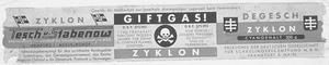 Zyklon B Label